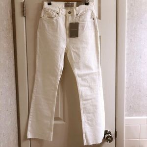 【NEW】Everlane White High Rise Kick Crop Jeans